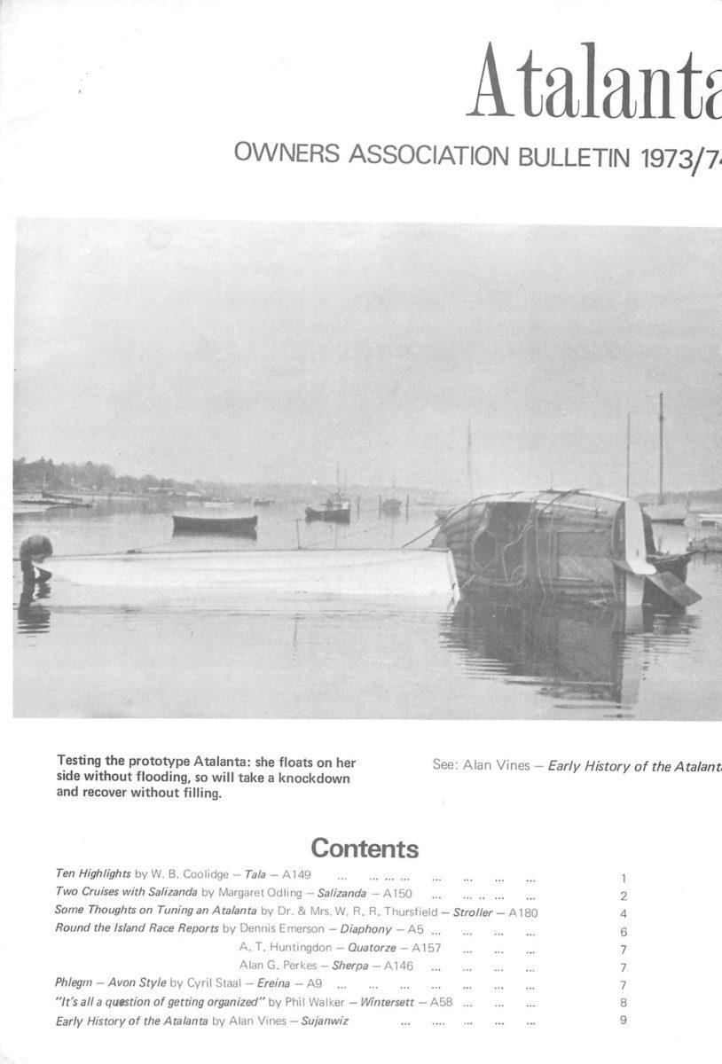 AOA Bulletin 1973-74 cover