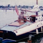 """Arosa"" comes into the pontoon at the MDL Hamble event 1996"