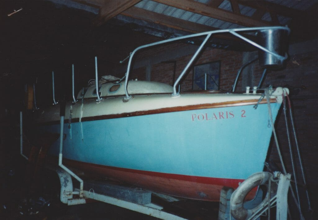 """Polaris II"" in Mexico as seen before purchase.  Baot had not been sailed for 20 years."
