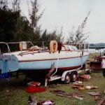 """Polaris II"" reported that it floated successfully in 1992 and then seemingly went back into storage.  Caption on pictur states ""that there were scorpions in there too"".  Boat currently thought still to be at Tuxpam, Vera Cruz, Mexico 20"