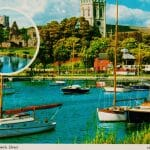 Picture postcard of Christchurch with A5