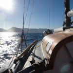 Sailing past Lerici