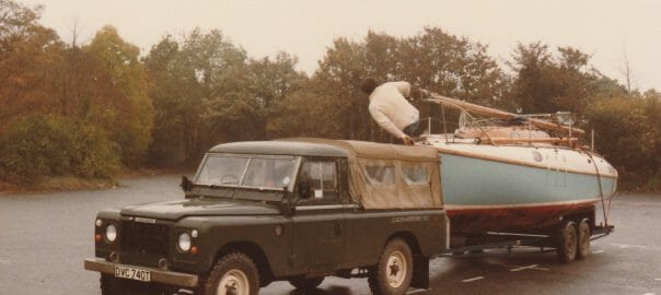 A110 assisting Land Rover Test a V8 Landrover