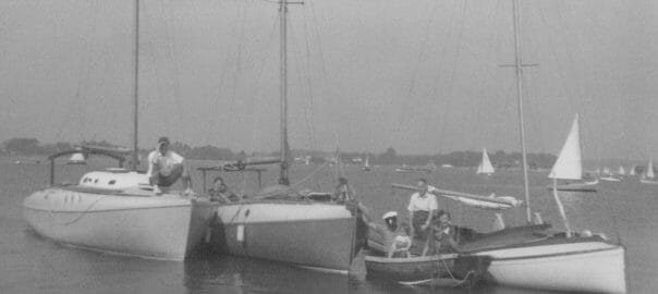 A48, A1 and Sujanwiz in Christchurch Harbour 1958