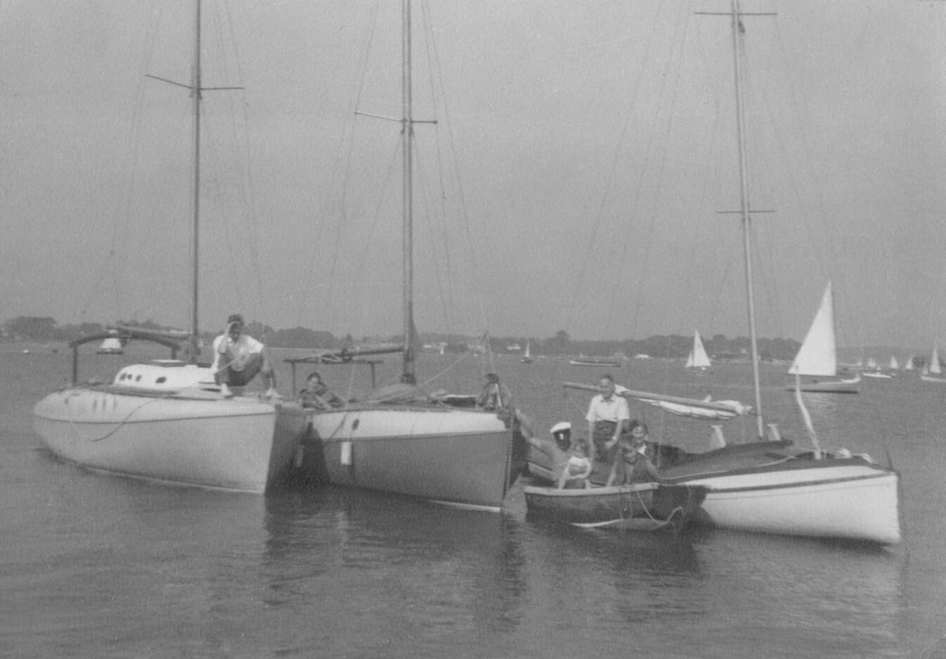 A48, A1 and Sujanwiz on the Hamble in the 1960s