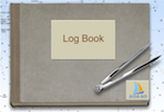 Click on the Log Book to add journeys by road, sea, river and lake.