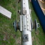 Aluminium mast halyard winches