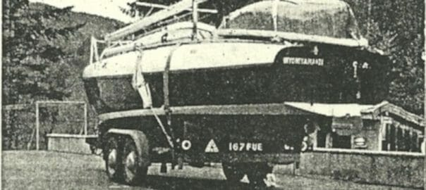 A175 on her trailer near the French -Swiss border