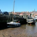 Arosa drying out at Whitby harbour
