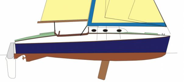 Atalanta 26 Line Drawing (Hull)