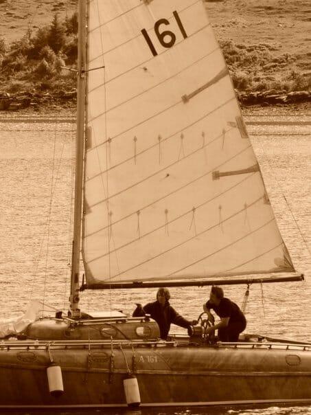Sailing a while ago