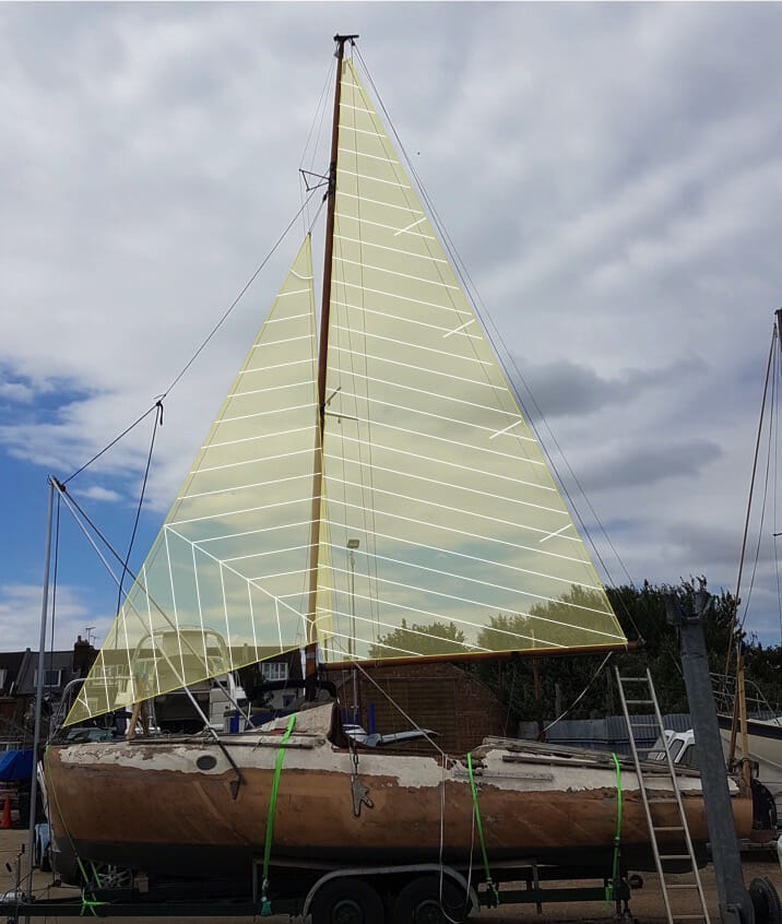 A1 is measured up for some James Lawrence sails