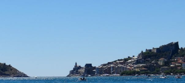Stunning- the blue sea, the magnificent fort and town of Portovenere