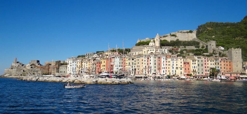 Looking back at Portovenere in the morning sun