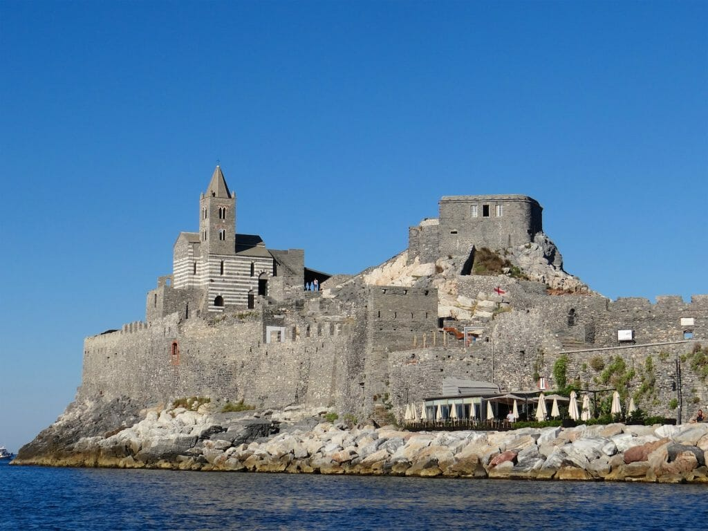 The for and church on the Portovenere headland