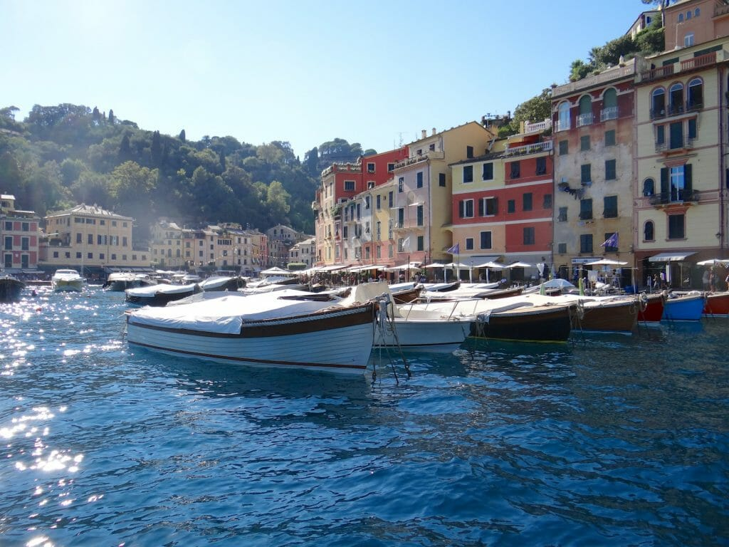 Inside Portofino awaiting Wedge Too, the motor yacht, to berth