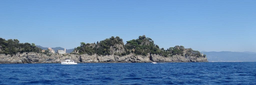 The promontory behind which sits Portofino.