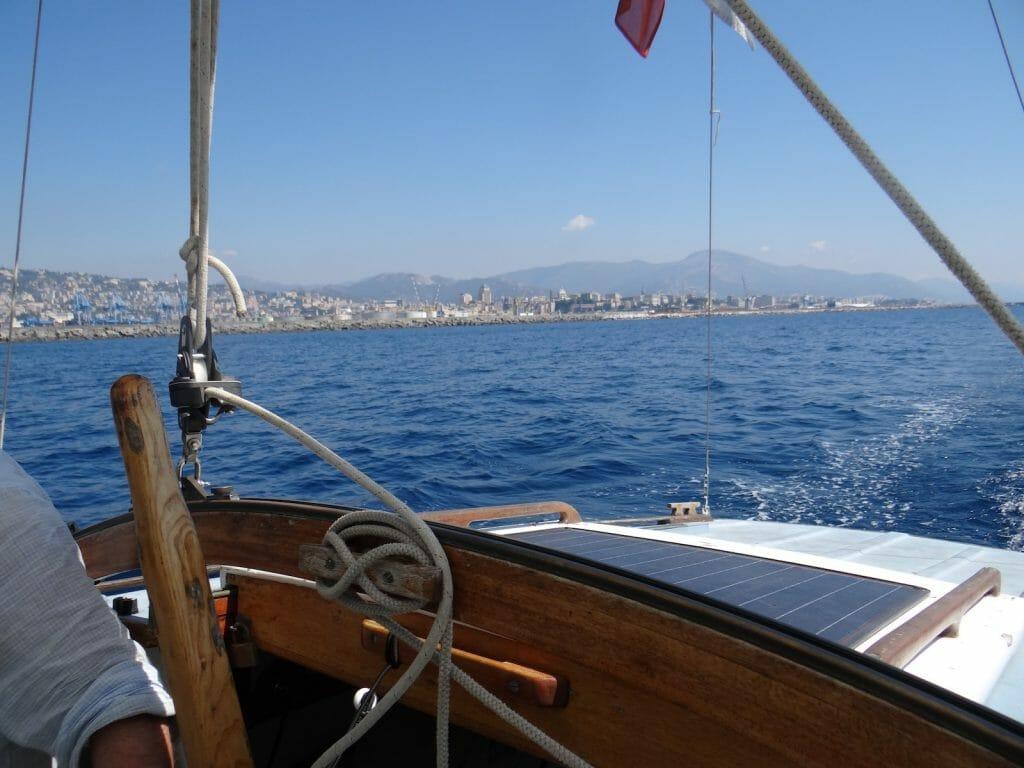 Leaving Genoa behind.