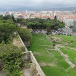 The view from the fort into Savona