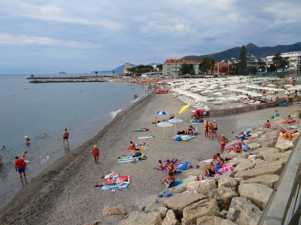 The beach at Loano