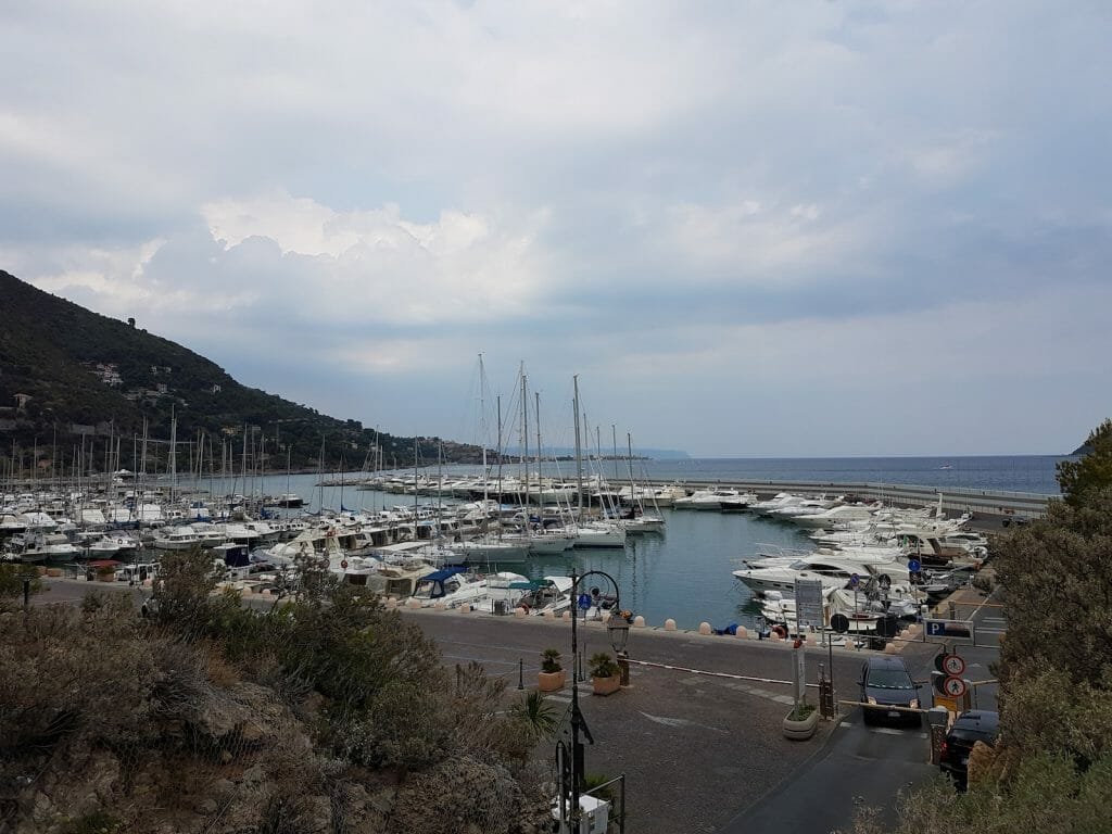 The marina at Alassio.
