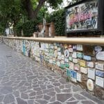 ALassio is famous for its wall of tiles signed by all and sundry celebrities. It was very impressive.