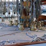 Elena's impressive sail-handling gear.