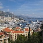 Looking over the main harbour from the top of old Monaco