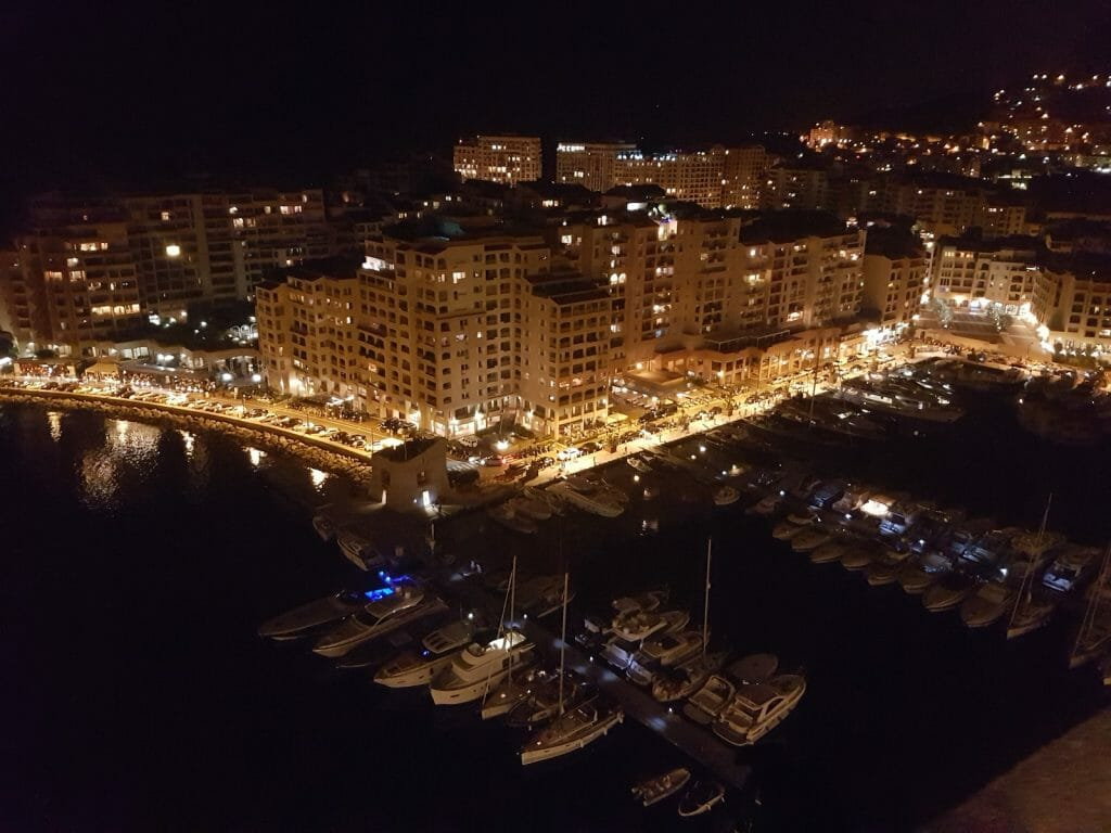 Port de Fontveille at night