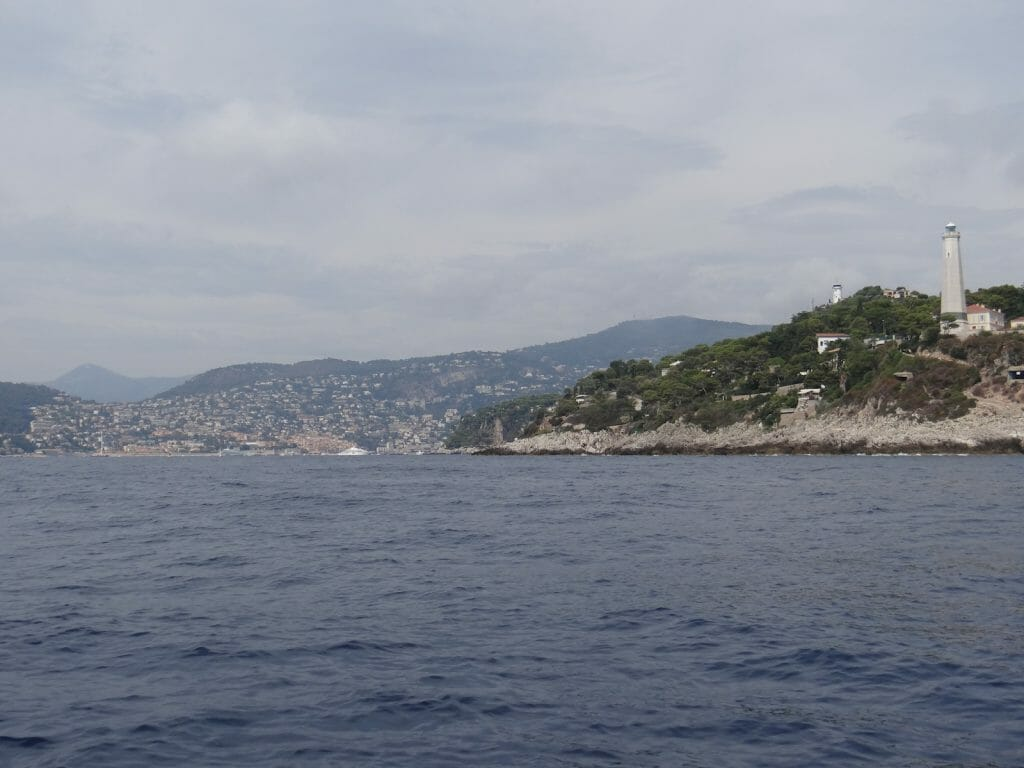 Nice from Saint Jean Cap Ferrat.  We were tempted ..... but resisted.