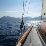 Sailing towards La Napoule