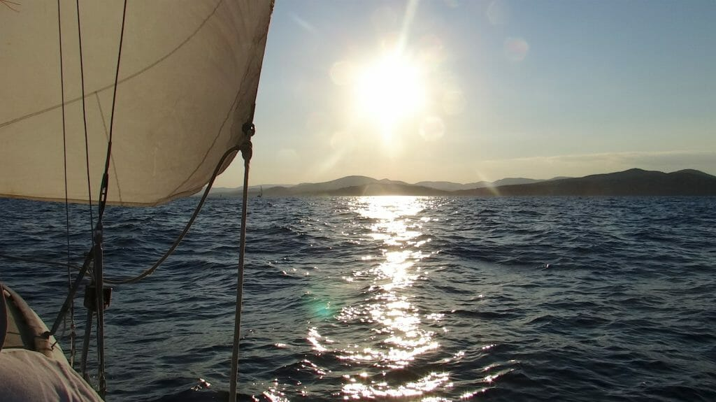 We had a great sail towards St Tropez and the sunset.