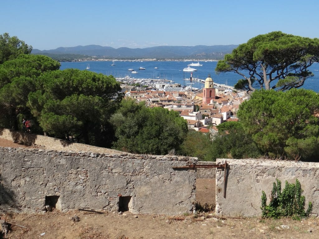 Looking down on St Tropez