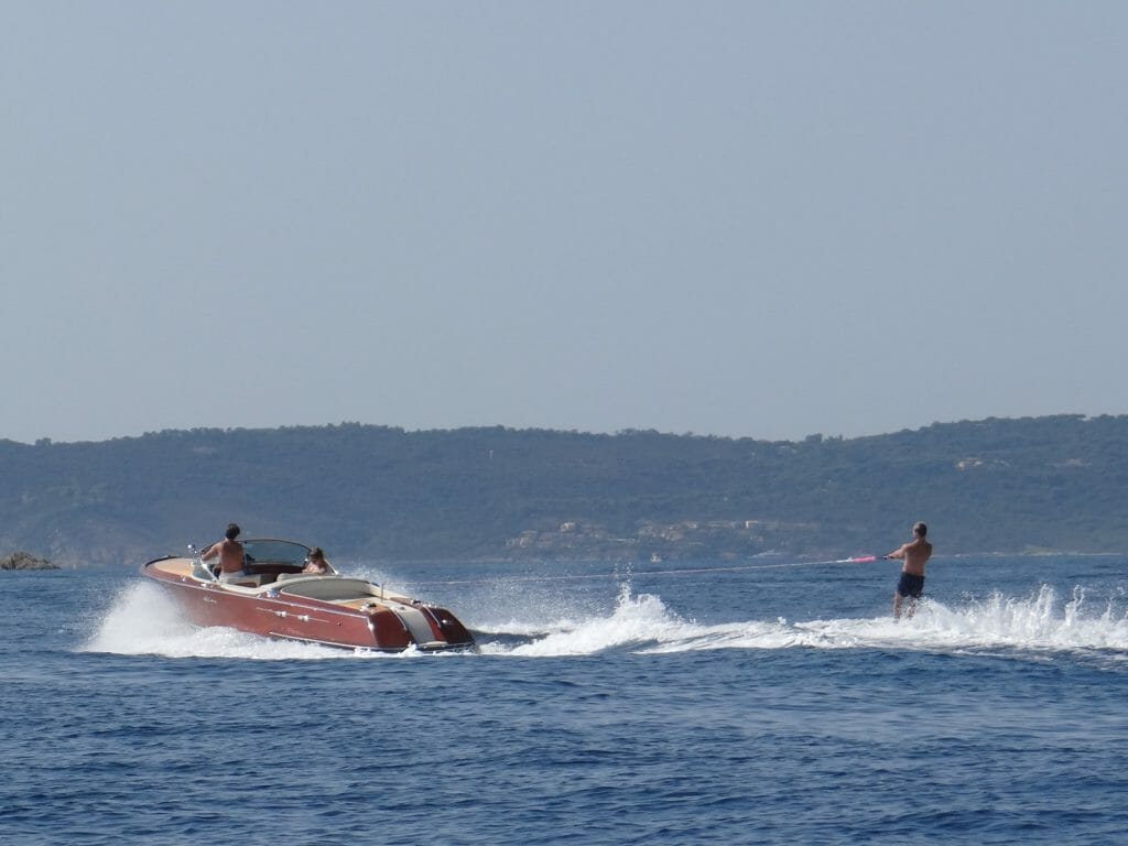 If you are going to waterski, not a bad boat to be behind.
