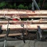 10 Spruce splines epoxy glued inside crosstrees 2