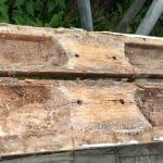 4 Diamond brace area -internal view of damage