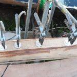 4 Spruce scarf to diamond bracing glued