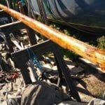 6 Mast revarnished