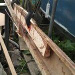 9 Spruce splines epoxy glued inside crosstrees