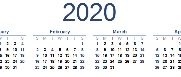 2020 Calendar Renewal reminder