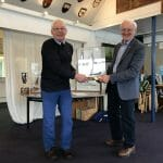 Greg receives the Etchells Trophy