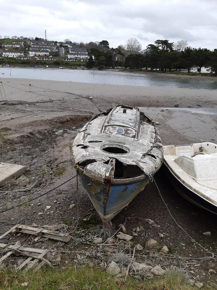 "Spotted on Facebook group ""Rotting in a Boatyard"""