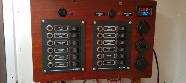 A124 Helene gets a new electrics panel (2017)