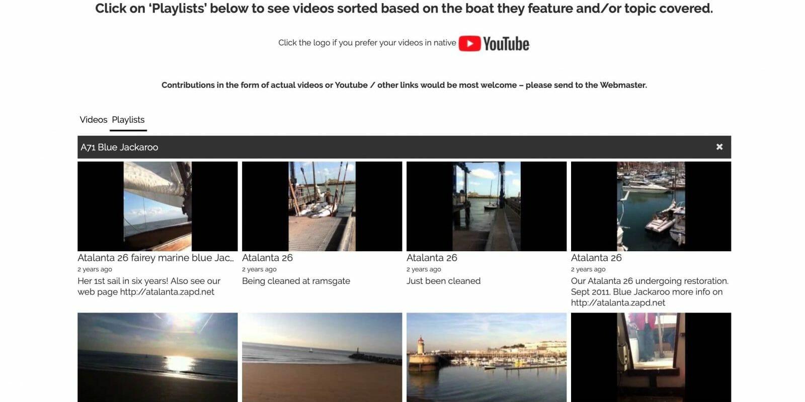 A71 Blue Jackaroo Youtube Playlist