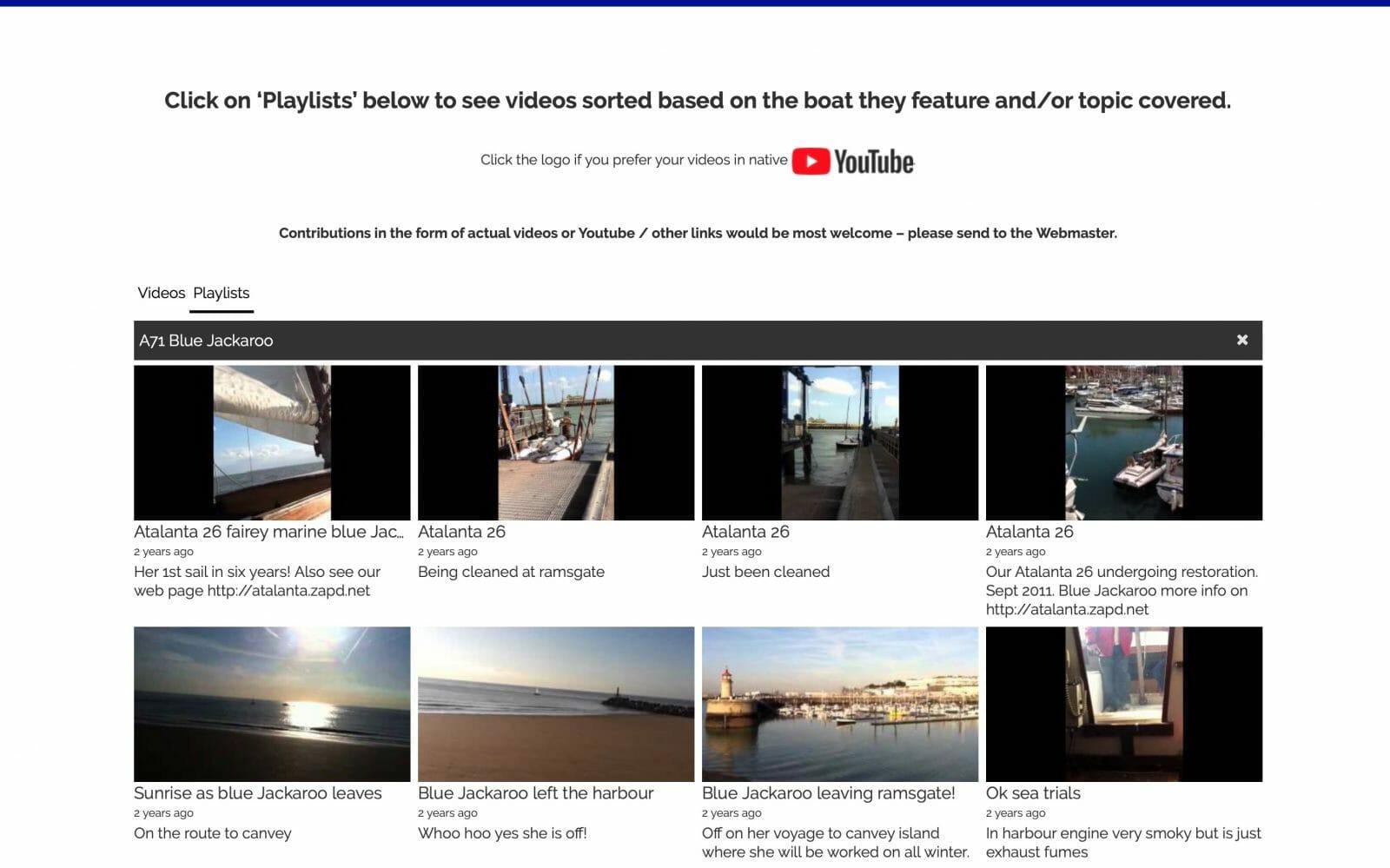 A71 Sailing Videos