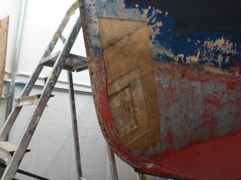 Bow damage at the waterline
