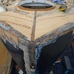 The bow deck repaired