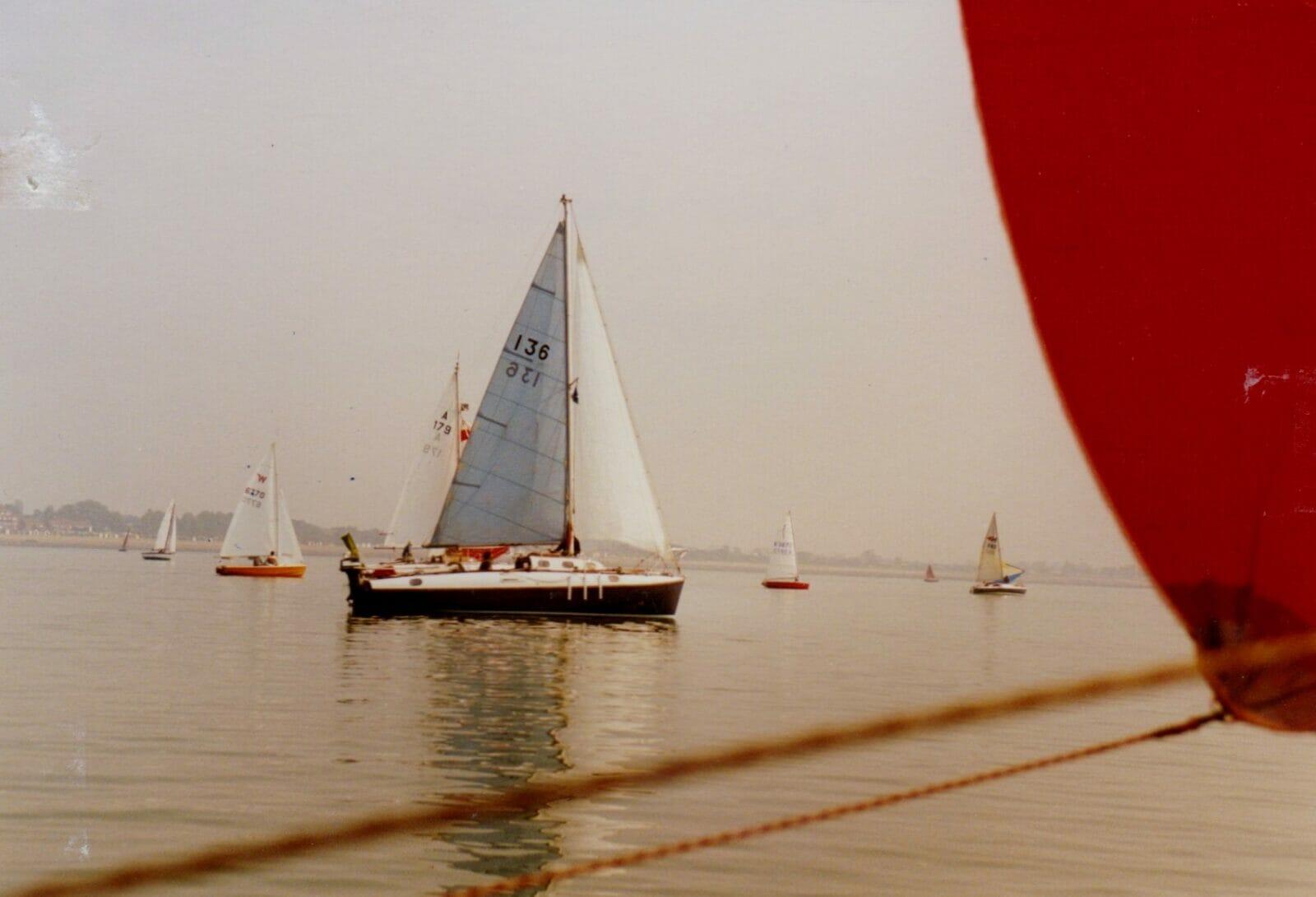Two Atalantas in light airs at West Mersea