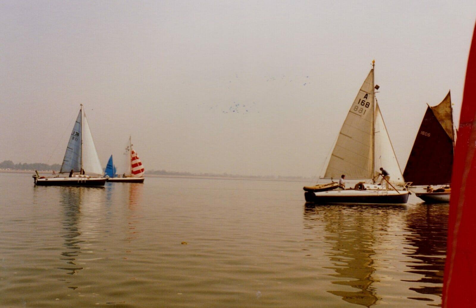 THREE atalantas at West Mersea - very light airs