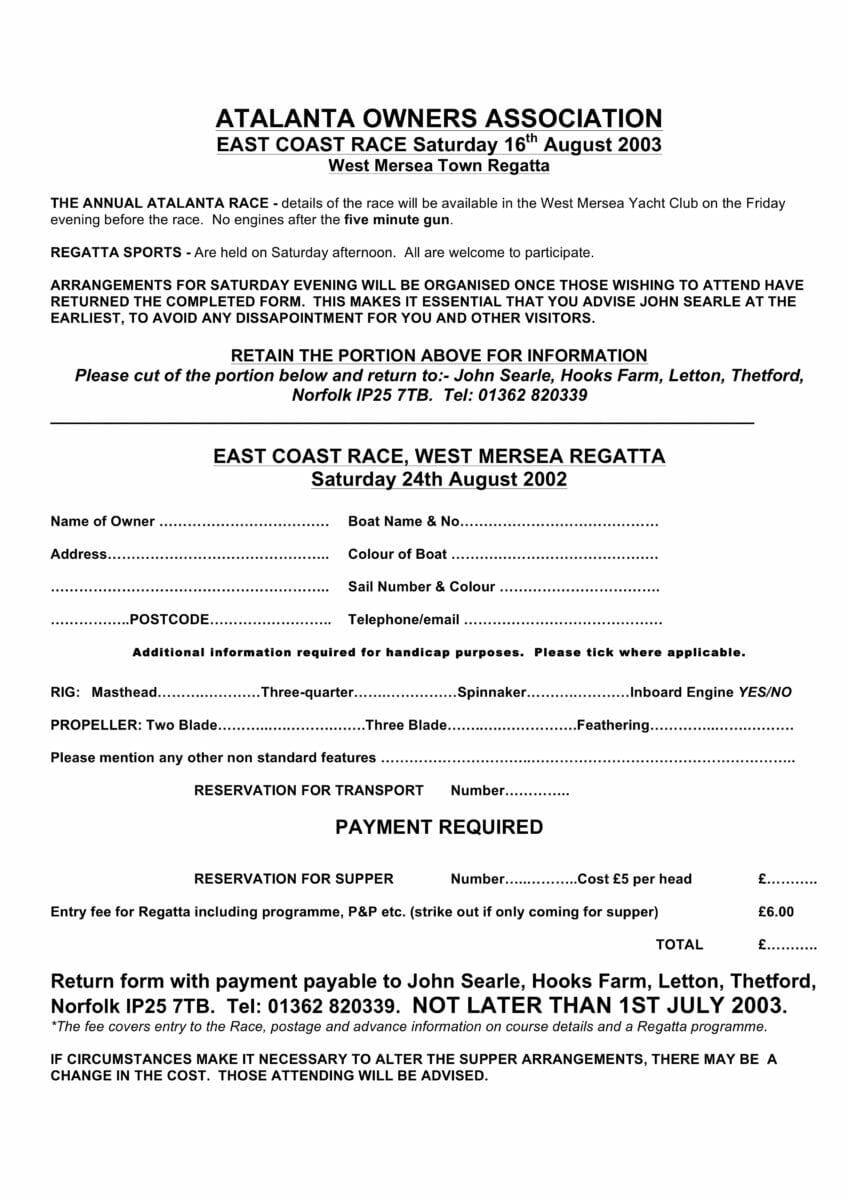 2003 East Coast Race
